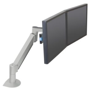 Chrome 7500 Wing Series Dual Monitor Beam Support with Monitor.