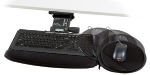 Chameleon Standard Keyboard Tray with Keyboard and Mouse.