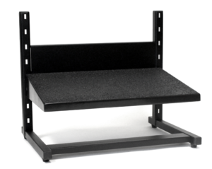 Large black adjustable footrest from ergoCentric.