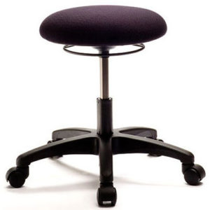 Starbase Stool from ergoCentric. Equipped with Ring Height Adjustment, Black Base, Seat and Casters