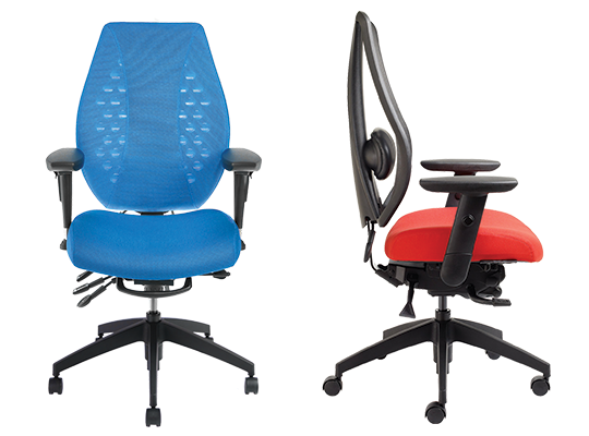 customizable spine support for office chairs ergocentric