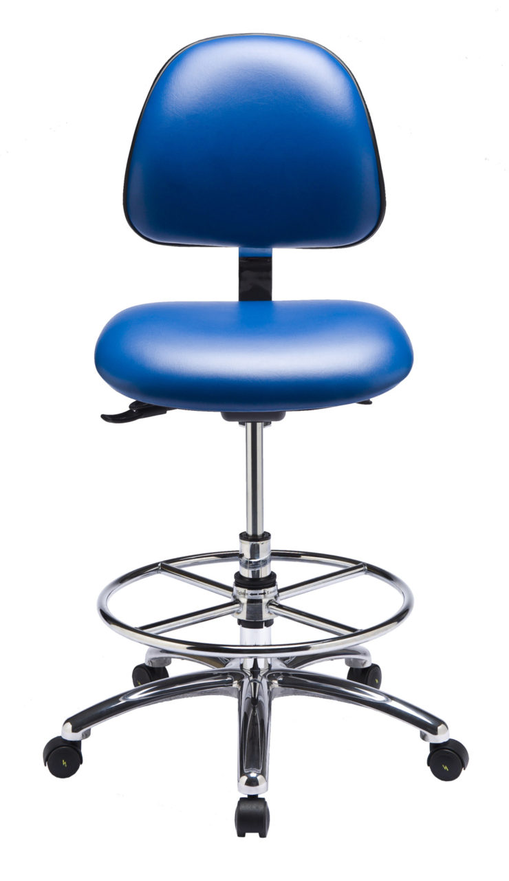 Exceptional ... Ergo F ESD Chair/Stool From ErgoCentric. Blue. Equipped With Tilt2  Mechanism, ...