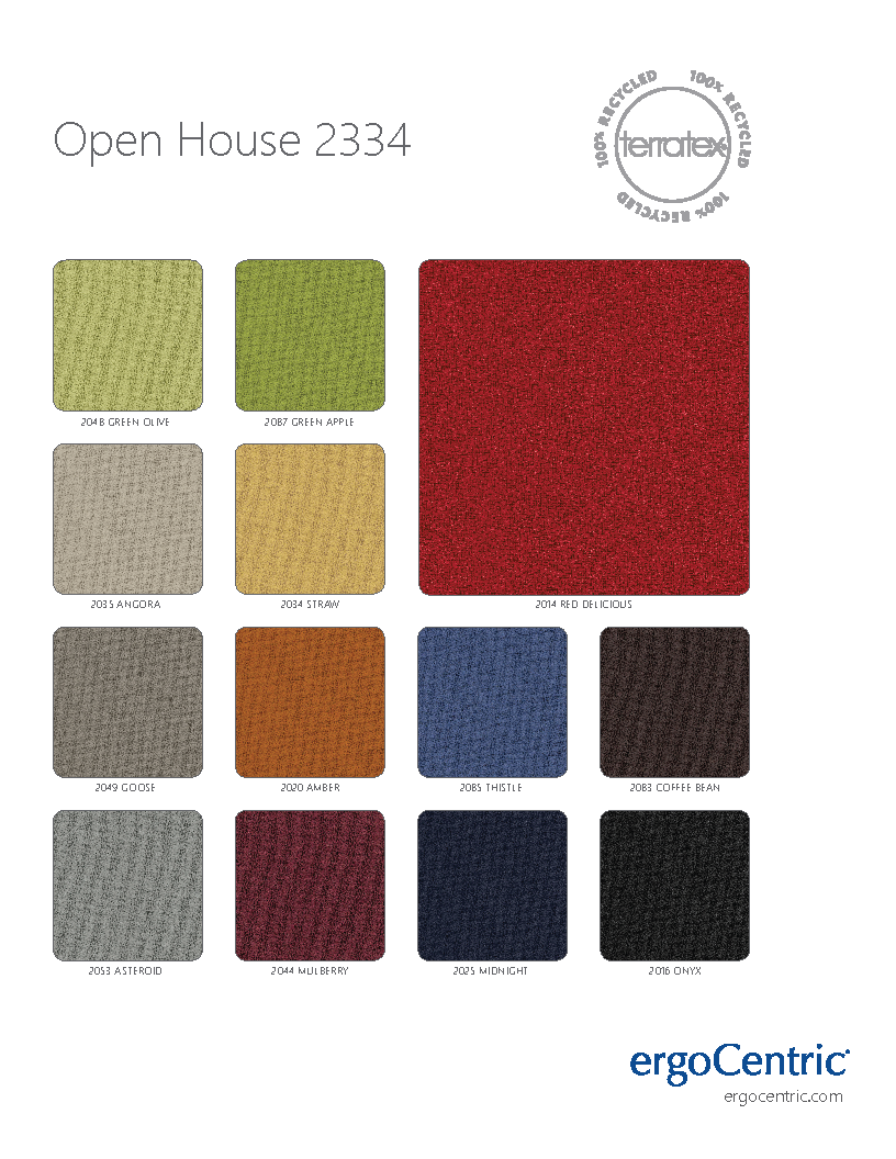 Terratex Open House Swatches Page 1 Ergocentric