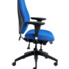 "airCentric office chair from ergoCentric. Airknit Breathable Fabric. Equipped with Multi Tilt Mechanism, 4"" Height Adjustable T-Arm, Black Base, Arms, and Casters."