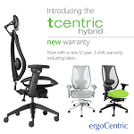 3 tCentric Hybrids - Midnight black, Light Grey and Upholstered Seat